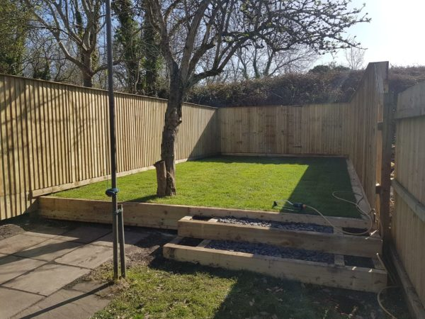 image of last garden fencing project done in cambridge